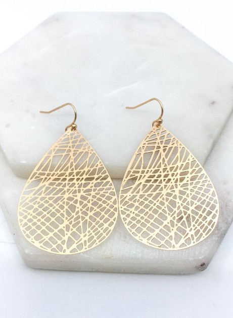 Matte Filigree Earrings - orangeshine.com