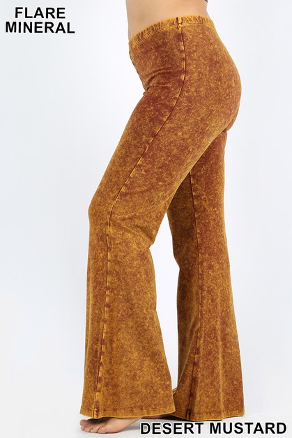 PLUS MINERAL WASHED BOTTOM FLARE  - orangeshine.com