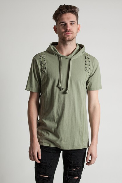 SHORT SLEEVE WITH EYELETS HOODIE - orangeshine.com