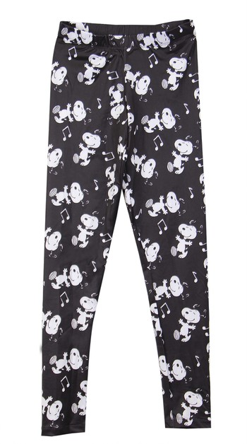 Peanuts Snoopy Graphic Print Legging - orangeshine.com