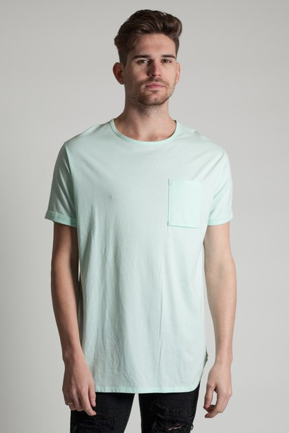 CUFFED SLIM SLEEVE TEE - orangeshine.com
