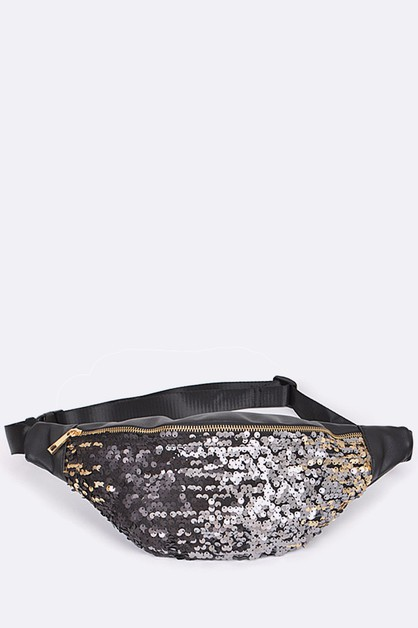 Gradient Sequins Fanny Packs - orangeshine.com
