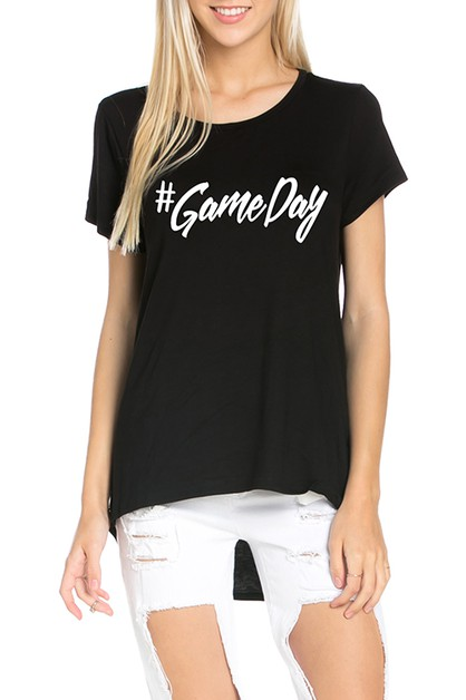GRAPHIC TOP GAME DAY SHORT SLEEVE - orangeshine.com