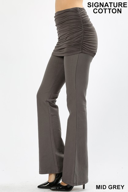 SHIRRED SKIRT OVERLAY LEGGINGS  - orangeshine.com
