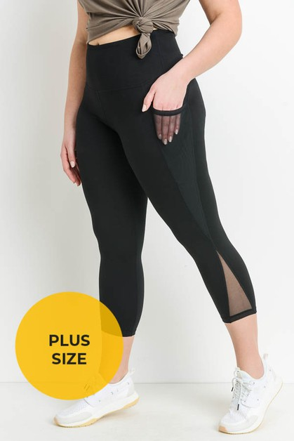 Highwaist Splice Mesh Pocket Full Le - orangeshine.com