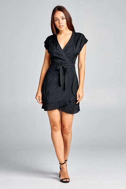 V-Neck Wrap Dress - orangeshine.com