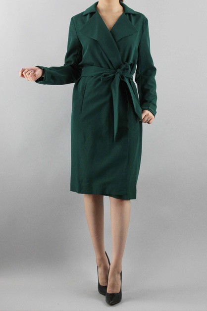 Special Long Simple Coat - orangeshine.com