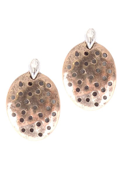 Organic Dotted Holes Post Earring - orangeshine.com