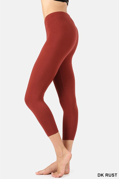 PREMIUM COTTON CAPRI LENGTH LEGGINGS - orangeshine.com