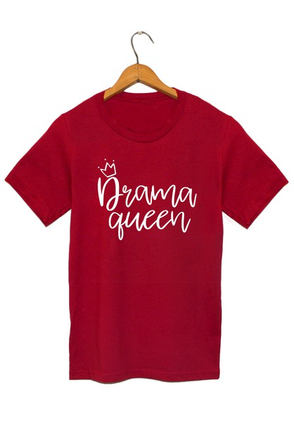 DRAMA QUEEN GRAPHIC TEE - orangeshine.com
