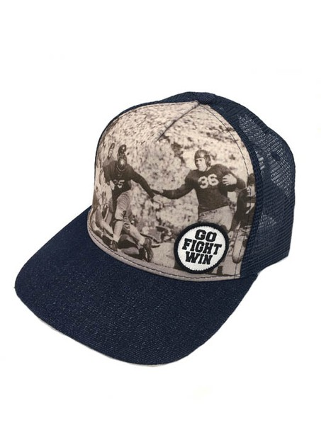 VINTAGE FOOTBALL SNAP BACK - DENIM - orangeshine.com