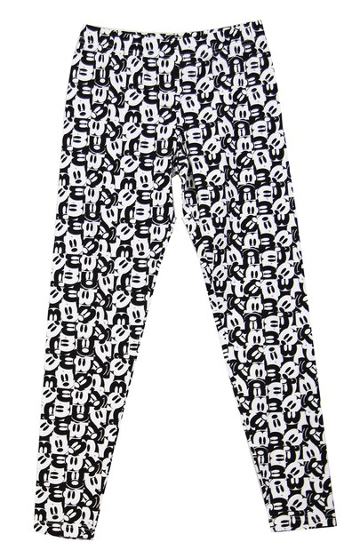 Disney Mickey Mouse Print Leggings - orangeshine.com