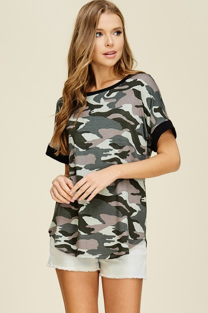 Army Baby French Terry Top - orangeshine.com