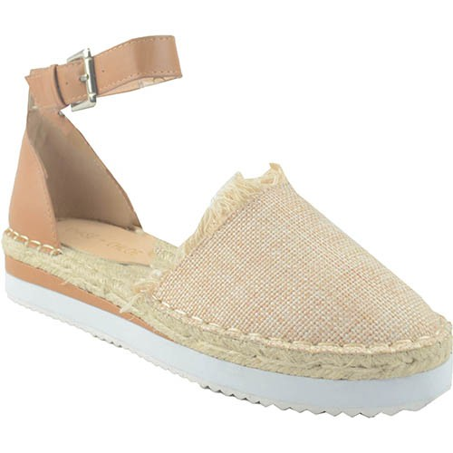 ANKLE STRAP LINEN CANVAS SHOES - orangeshine.com