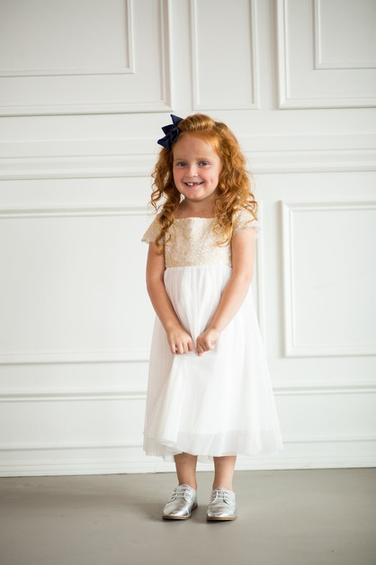 Breelynn Dress - Little Girl White - orangeshine.com