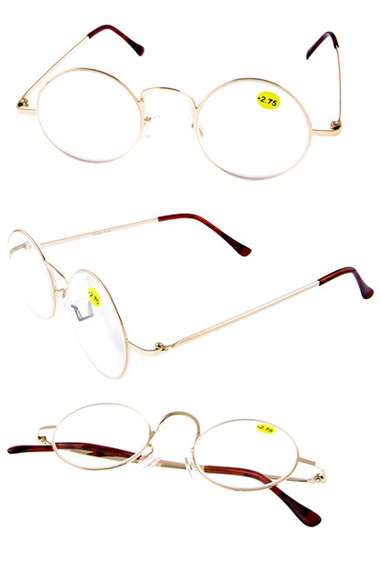 Round metal reader glasses  - orangeshine.com