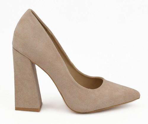 Pointy Toe Chunky Heel Pump - orangeshine.com