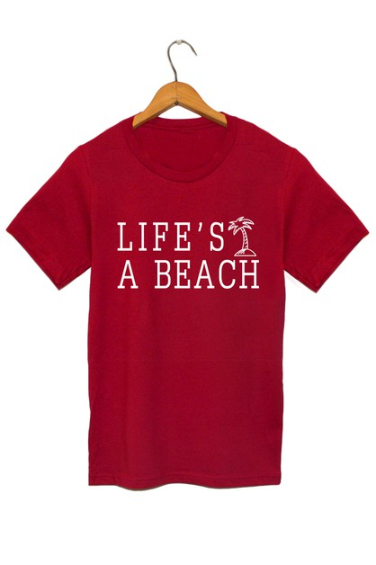 LIFES A BEACH GRAPHIC TEE - orangeshine.com