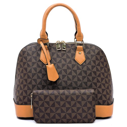 Monogrammed 2-in-1 Dome Satchel - orangeshine.com