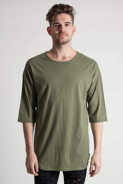 DROP SHOULDER SCALLOP TEE - orangeshine.com