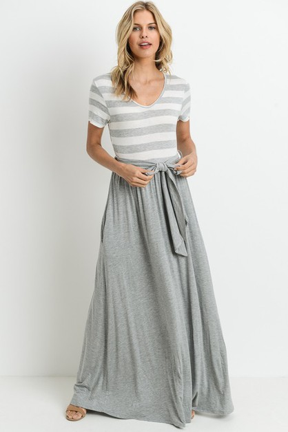 TWO PIECE BANDED MAXI DRESS - orangeshine.com