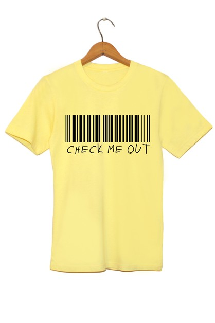 CHECK ME OUT GRAPHIC TEE - orangeshine.com