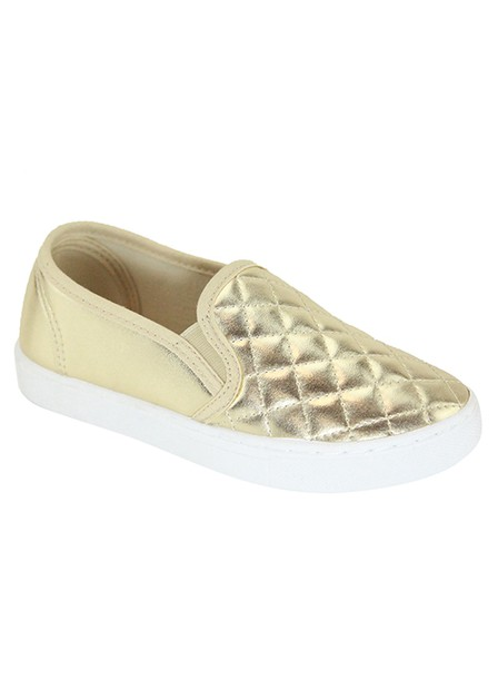 QUILTED SLIP ON SNEAKER - orangeshine.com