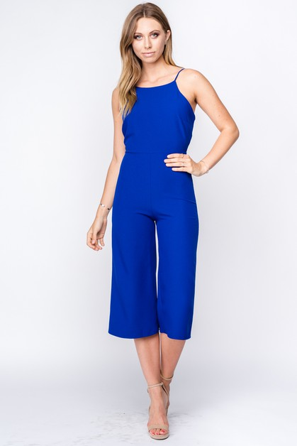 CULOTTE JUMPSUIT WITH BOW BACK - orangeshine.com