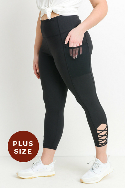 Highwaist Plus Size Spaghetti Criss- - orangeshine.com