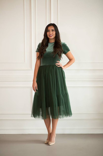 Tandis Dress - Green - orangeshine.com