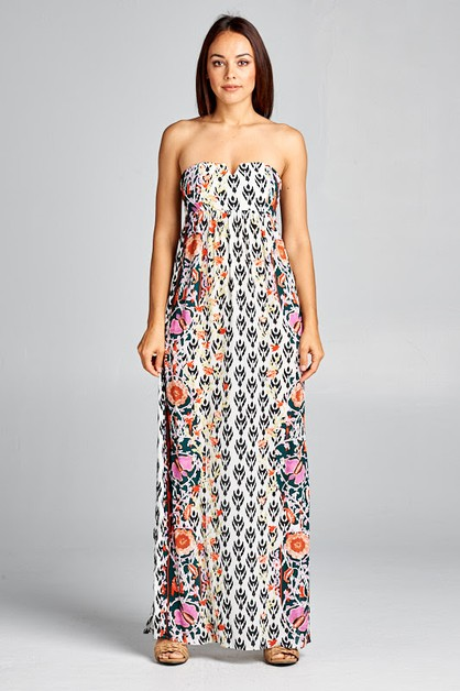 Stripeless Maxi Dress - orangeshine.com