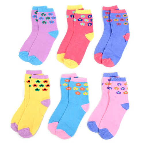 24 Pairs Kids Girl Flower  Socks - orangeshine.com