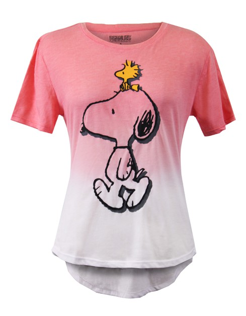 Snoopy Gradation High Low T-shirt - orangeshine.com
