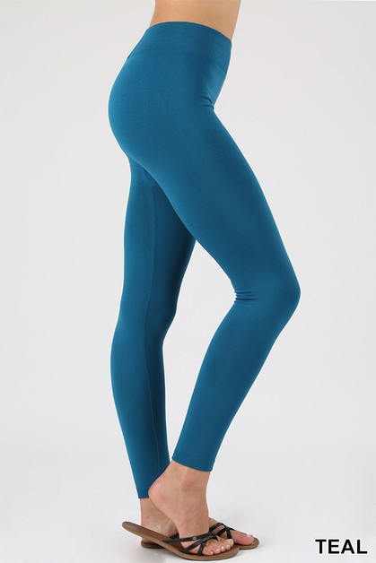 PLUS SEAMLESS FLEECE LEGGINGS - orangeshine.com