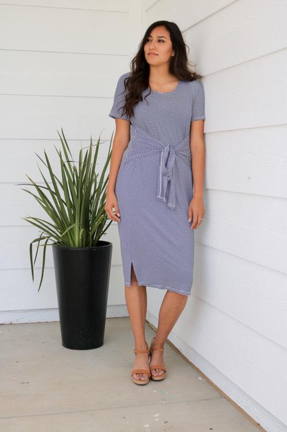 Callie Dress - Navy White Plus - orangeshine.com