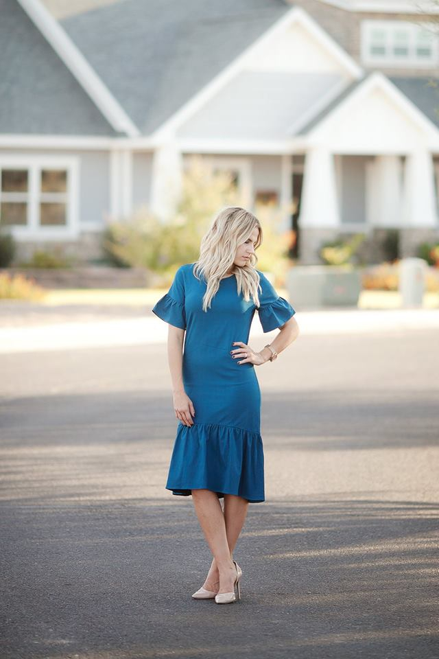 Kalliope Dress - Blue Pluss - orangeshine.com