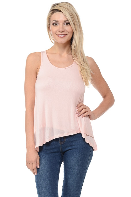 SLEEVELESS KNIT TOP - orangeshine.com