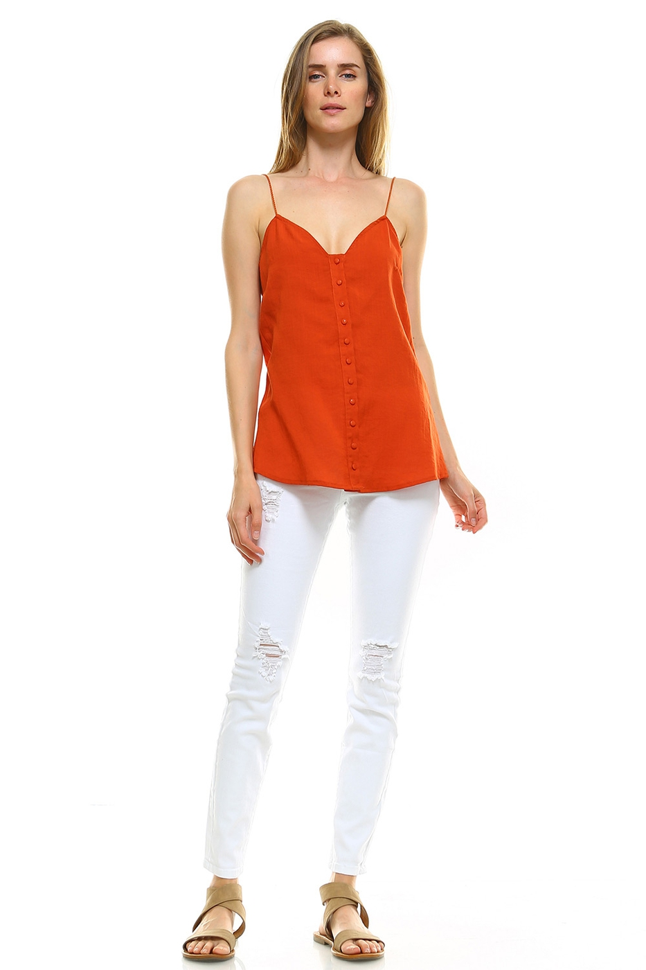 Button-Front Cami Top - orangeshine.com
