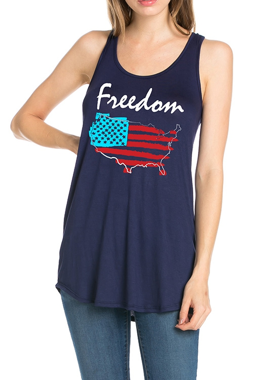 FLAG INDEPENDENCE DAY FREEDOM TOP - orangeshine.com