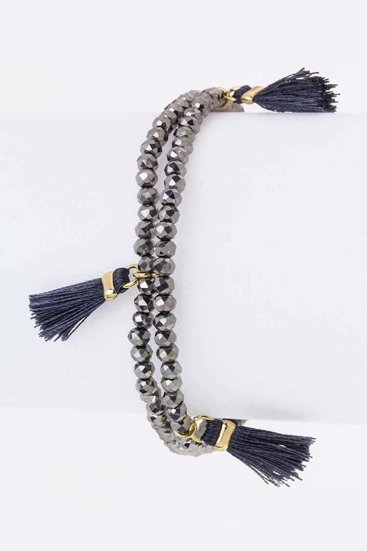Tassels Beads Wrapped Bracelet - orangeshine.com
