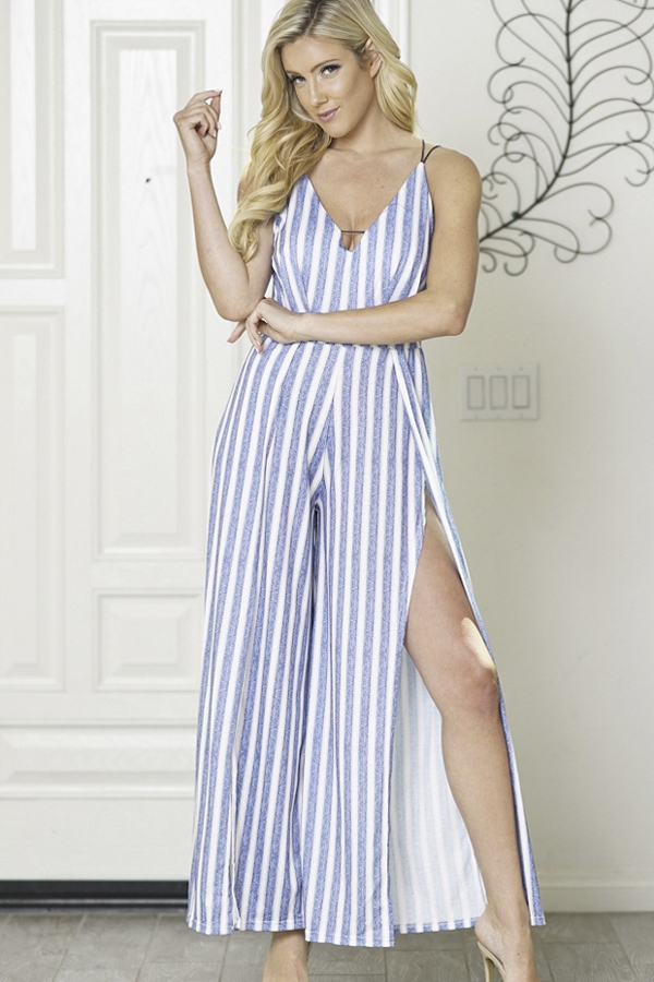 jumpsuits v-neck back less - orangeshine.com