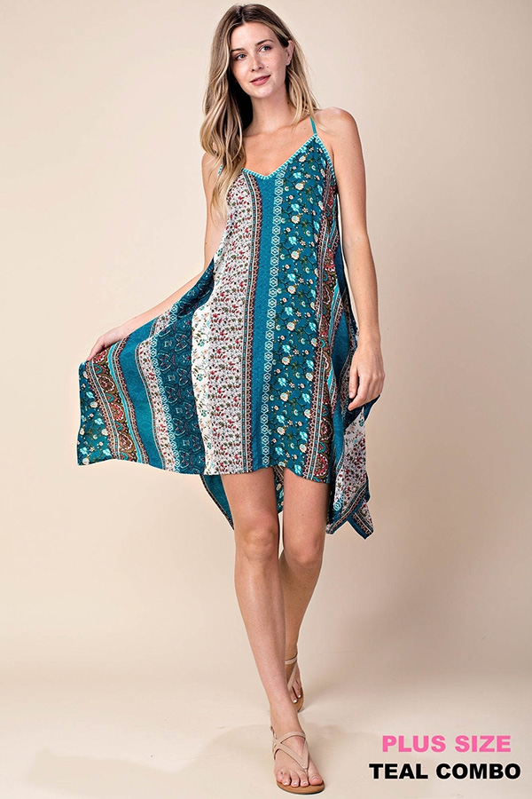 STITCH DETAIL BOHO SUN DRESS - orangeshine.com