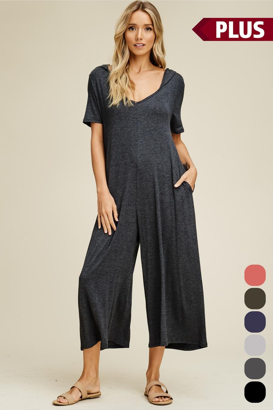 6d7ec6390b1 ANNABELLE Wholesale Plus Size Hoodie Palazzo Jumpsuit