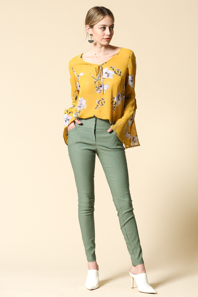 Solid chic pants - orangeshine.com