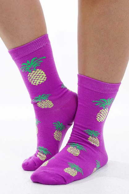 Pineapple Socks Purple  - orangeshine.com