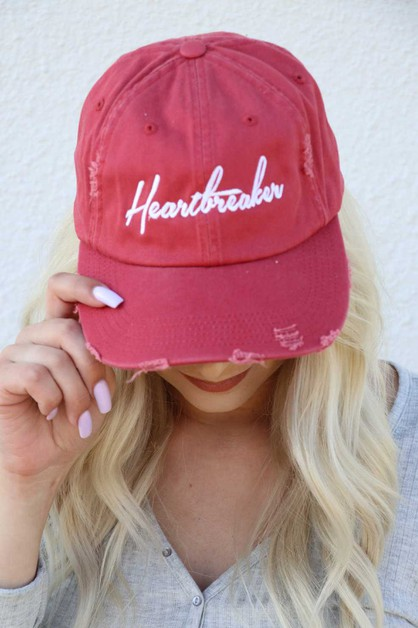Heartbreaker Distressed Hat - orangeshine.com