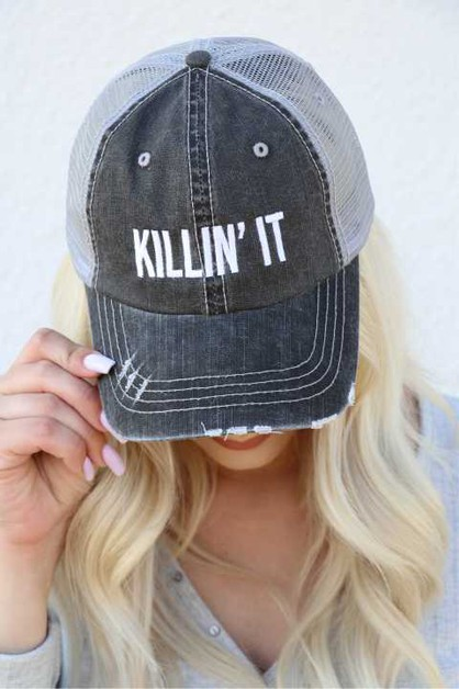 Killin It Embroidered Trucker Hat - orangeshine.com