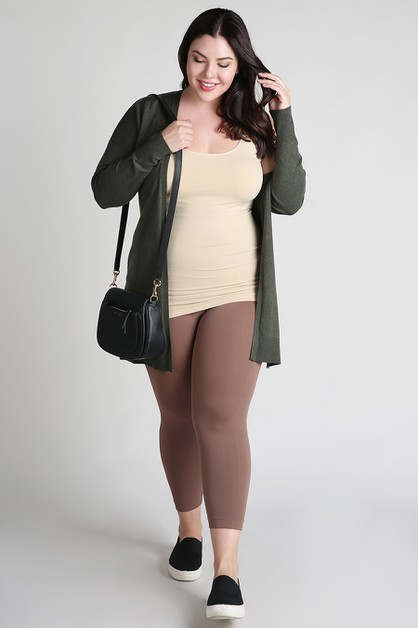 Plus Size Capri Leggings - orangeshine.com