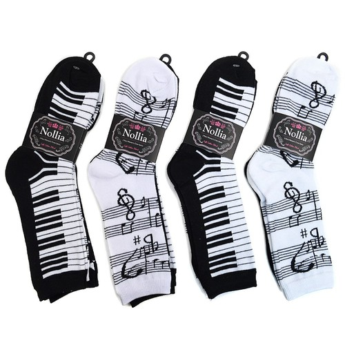 Women Music Theme Novelty Socks - orangeshine.com