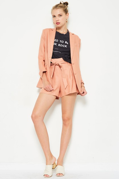 blazer and shorts set - orangeshine.com